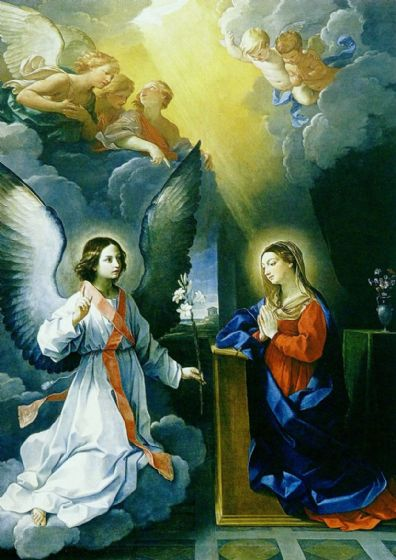 Reni, Guido: The Annunciation. Biblical/Religious Fine Art Print/Poster. Sizes: A4/A3/A2/A1 (00153)